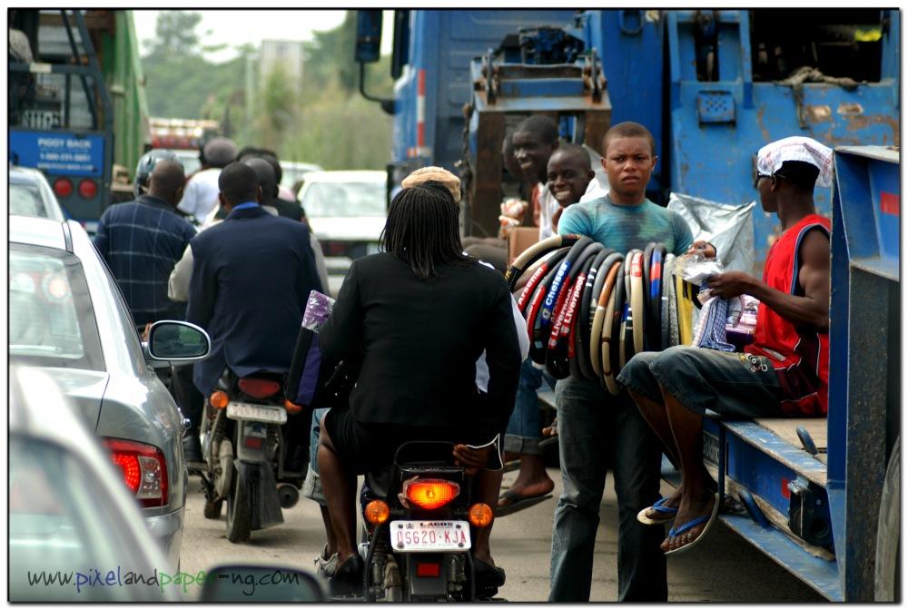 photoblog image Hitching a ride: Lagos style