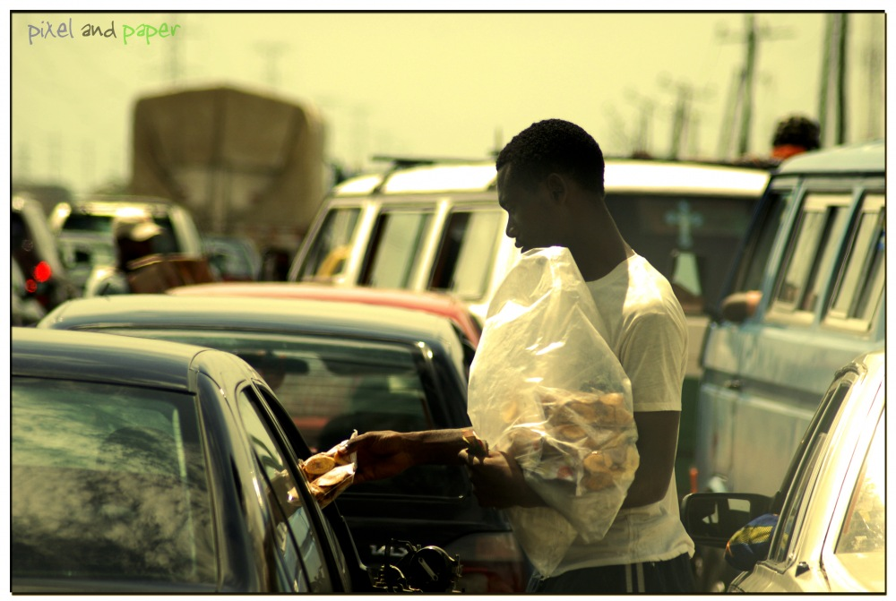 photoblog image Street Hawker: Lagos, Nigeria