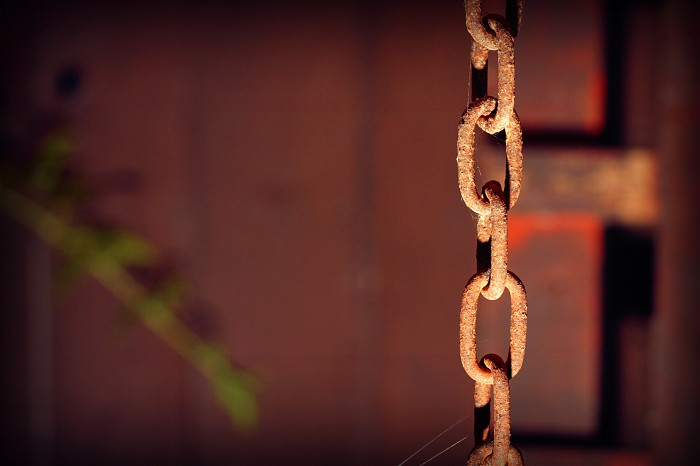 photoblog image Chained in the dark.