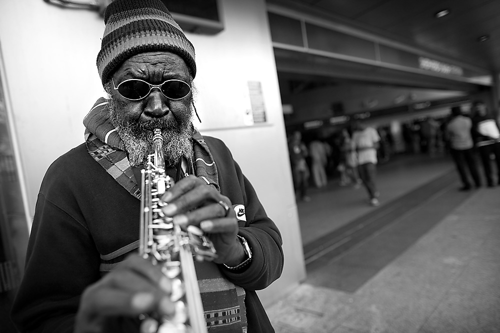 photoblog image Rasta and Soprano Sax