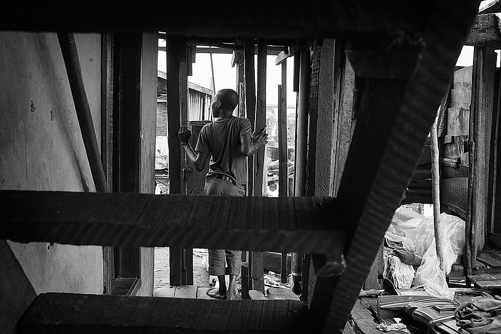 photoblog image A boy looking out in Makoko