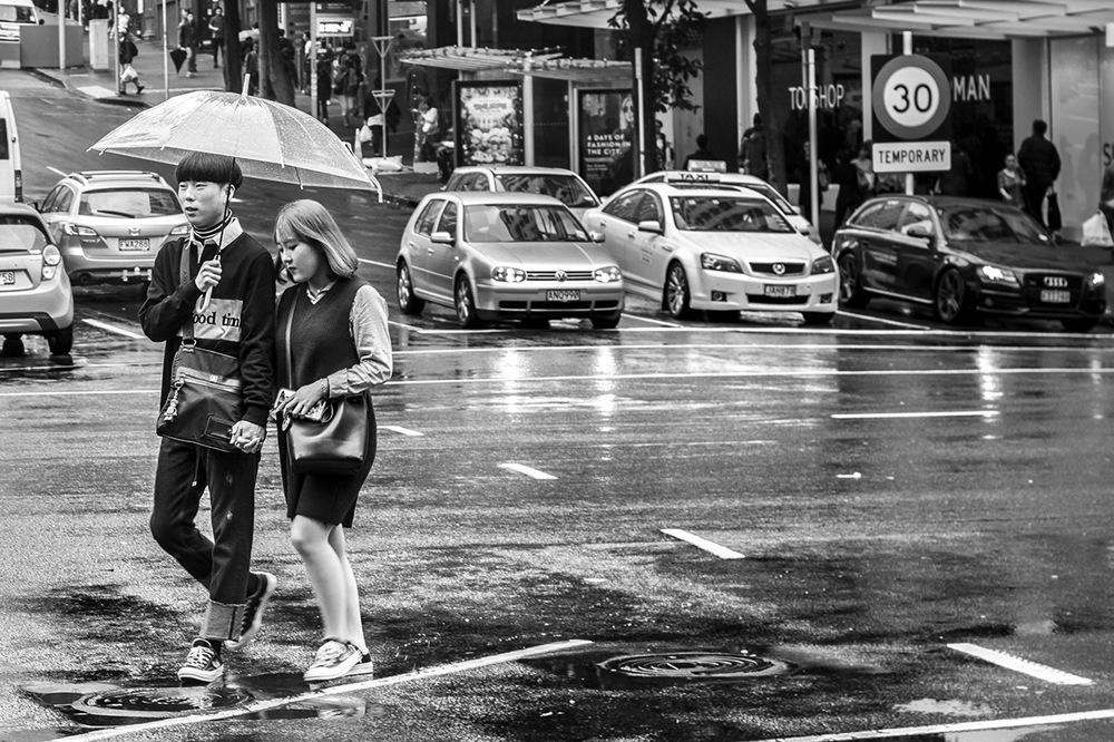 photoblog image Under the rain and umbrella
