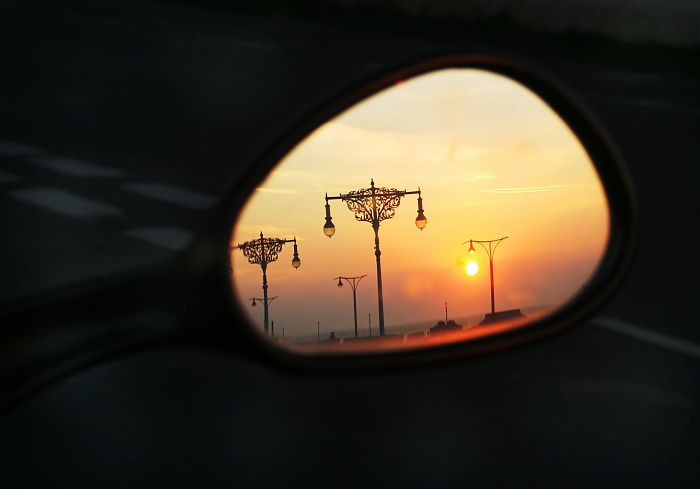 photoblog image Reflections of a sunset gone by