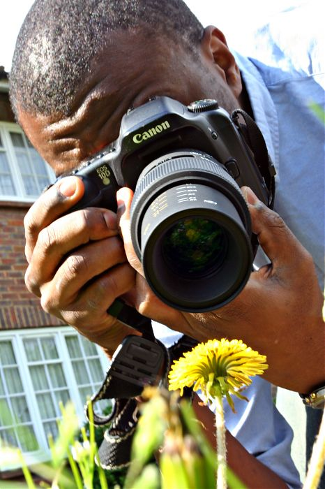 photoblog image The lens and the flower