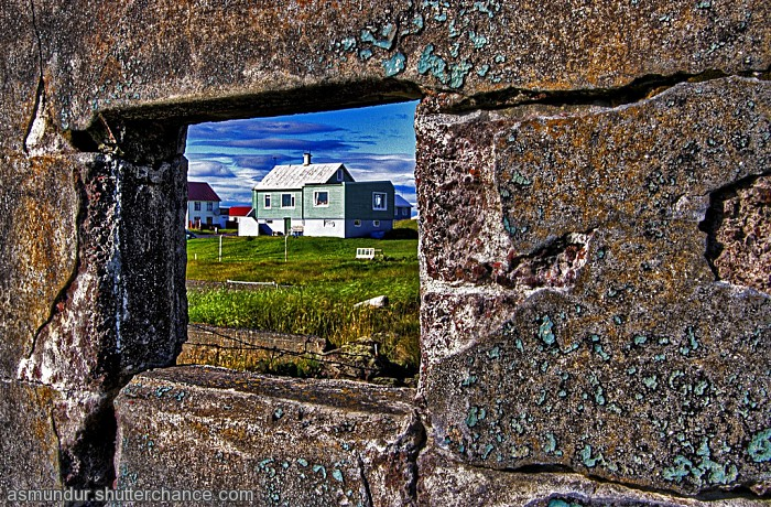 photoblog image A lovely house through the window of ruins ...