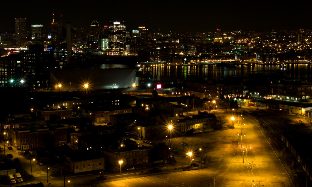 photoblog image Baltimore harbor skyline # 1