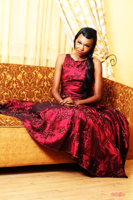 photoblog image Model in the Red dress