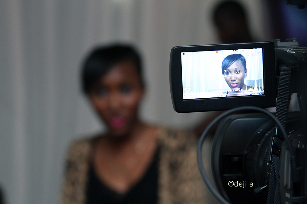 photoblog image PR and Brand Manager, Moyo being interviewed
