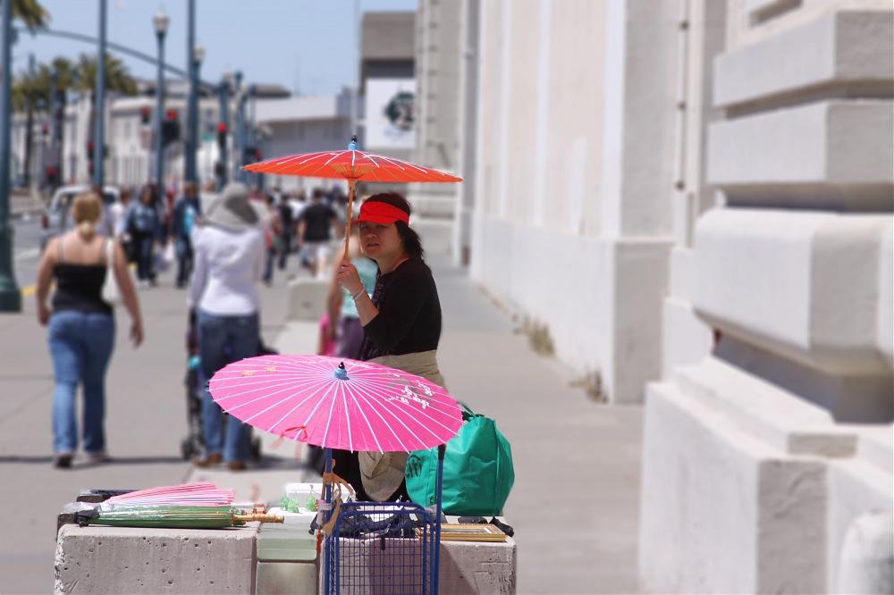 photoblog image Umbrella Lady