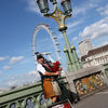 Bagpiper and the London Eye