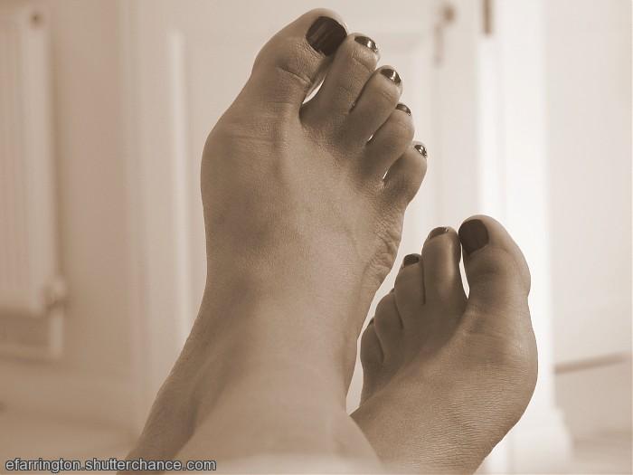 photoblog image Sepia Feet