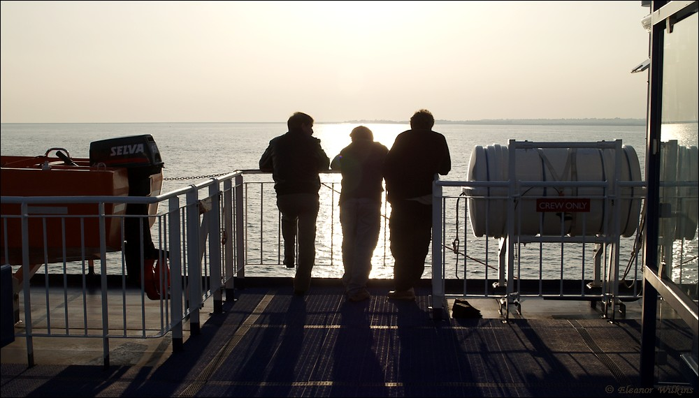 photoblog image Sundown on the ferry