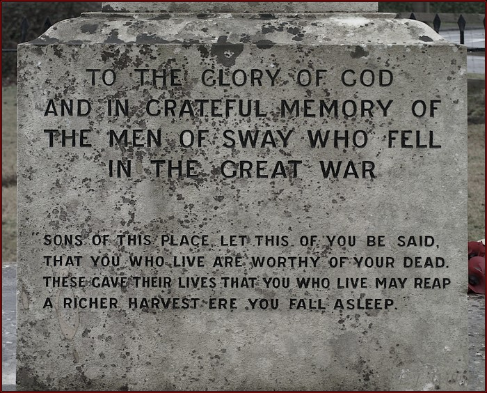 photoblog image Sway War Memorial.