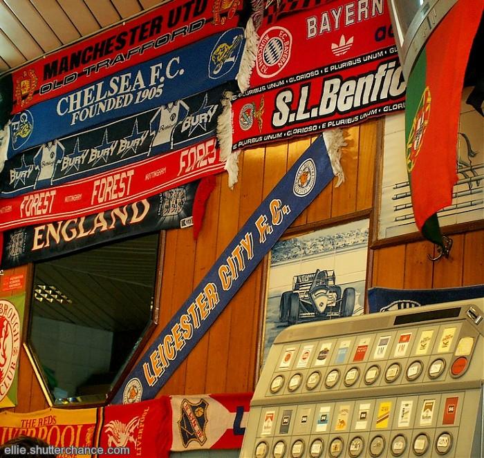 photoblog image Football scarves