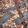Iron, wood and stone.