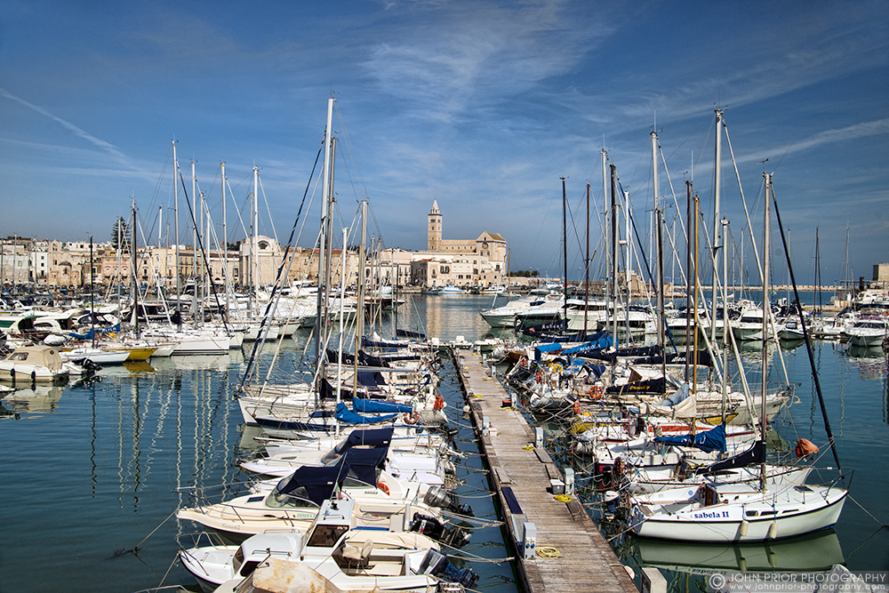 photoblog image Trani Harbour and Cathedral