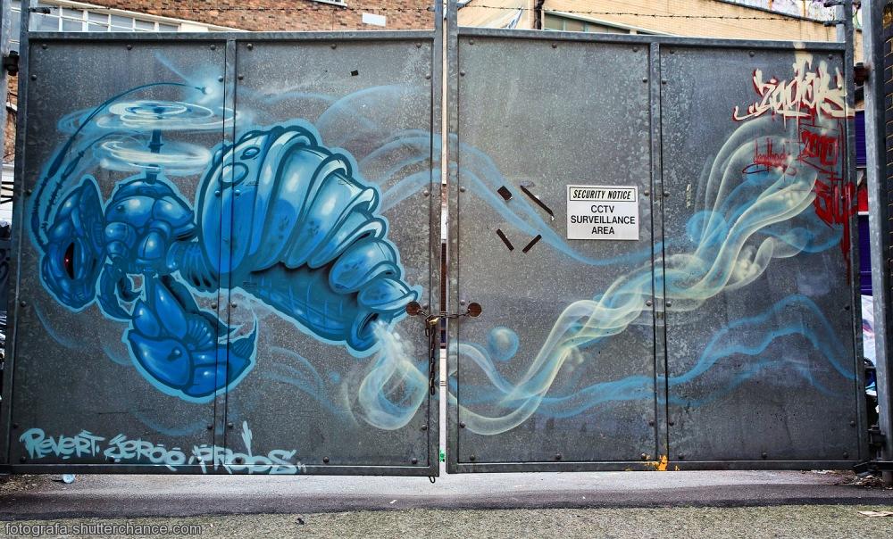 photoblog image EC2A Street Art - Under Surveillance