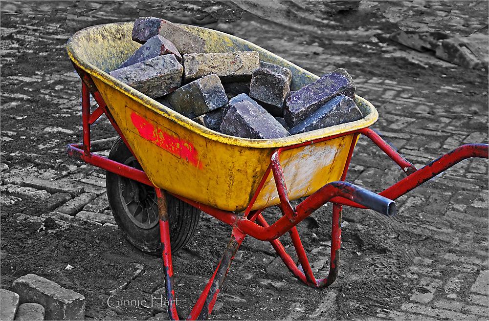 photoblog image Road Repair:  A Boat-load of Bricks