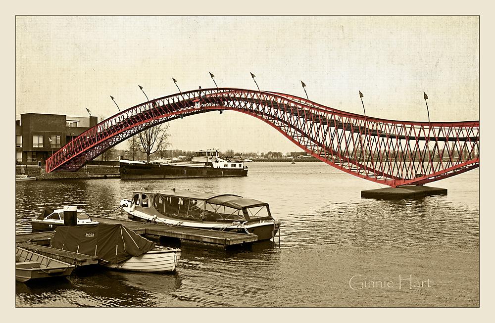 photoblog image Amsterdam's Python Bridge