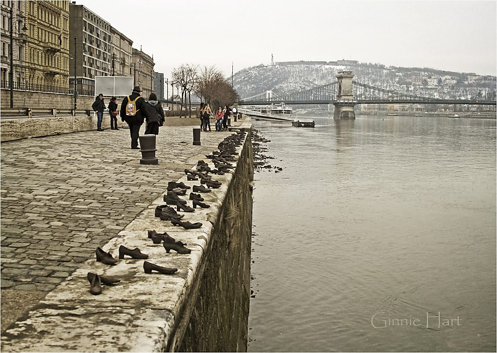 photoblog image Shoes on the Danube