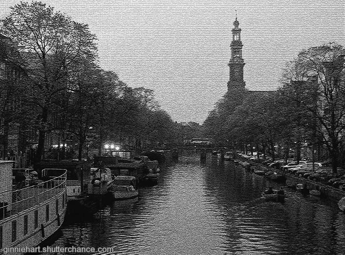 photoblog image Westerkerk from the Canal