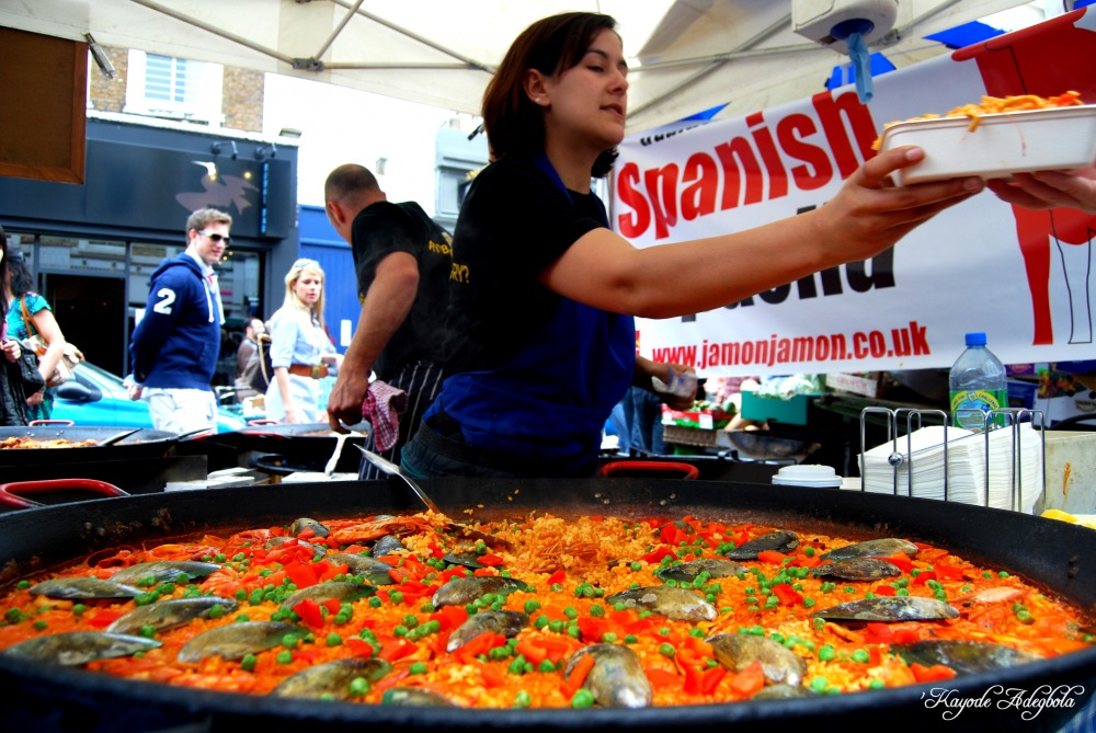 photoblog image Seafood Paella @ Portobello Road Market