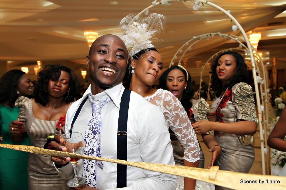 photoblog image Bride and groom doing the Limbo