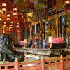 Po Lin Monastery temple interior, Hong Kong