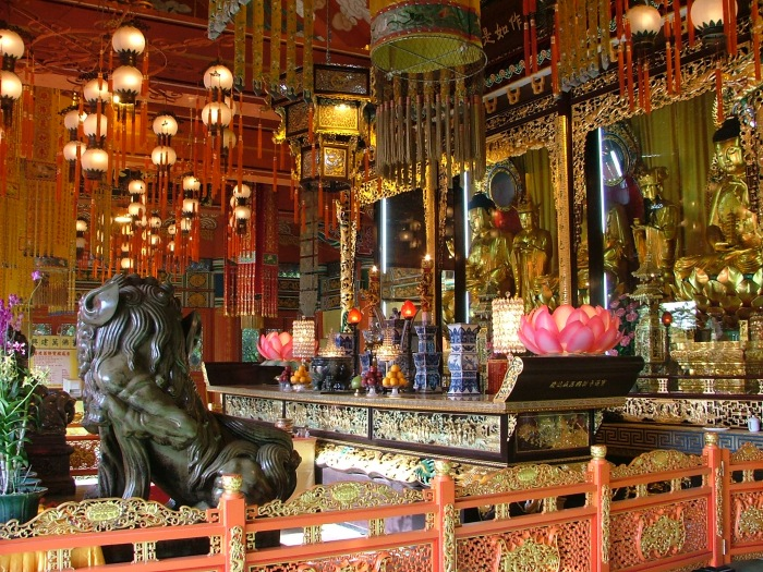 photoblog image Po Lin Monastery temple interior, Hong Kong