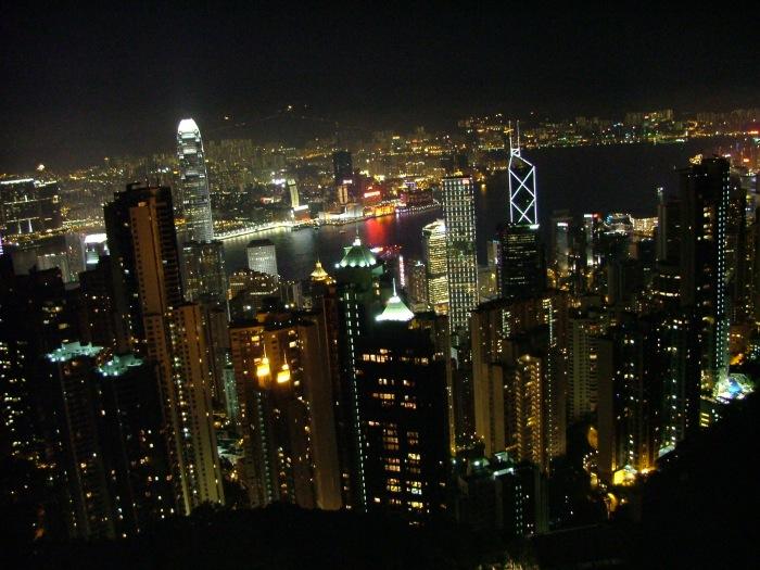 photoblog image Hong Kong Island at night