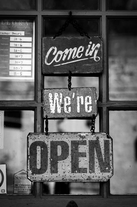 photoblog image Open For Business