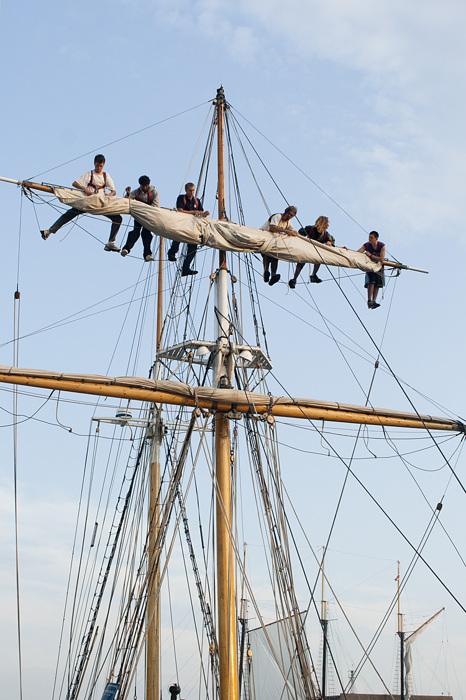 photoblog image Manning The Sails