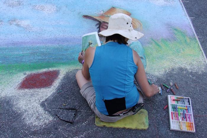 photoblog image Chalk Artist