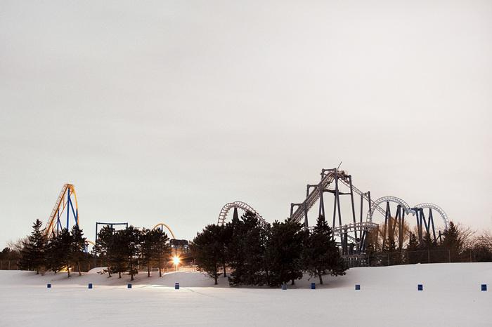photoblog image Snowy Amusement Park