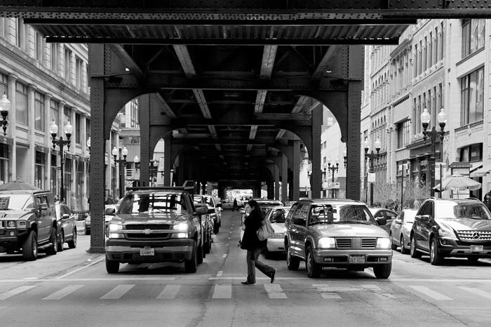 photoblog image Under the L