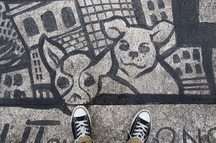 photoblog image Sidewalk Art