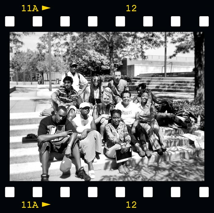 photoblog image With My Folks (My Prof & Classmates) B&W