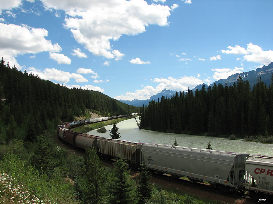 photoblog image Around The World - Freight Train Bow River Valley
