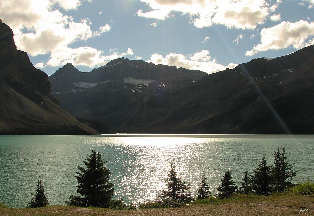photoblog image Around The World - Sunrays - Bow Glacier, Bow Lake