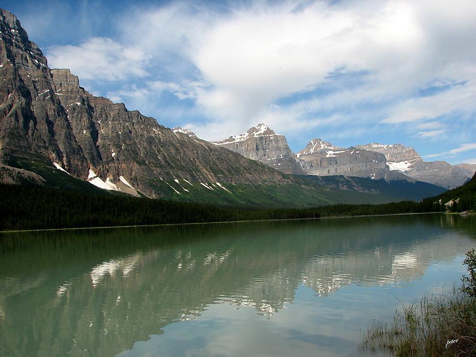 photoblog image Around The World - Reflections on Bow Lake 3
