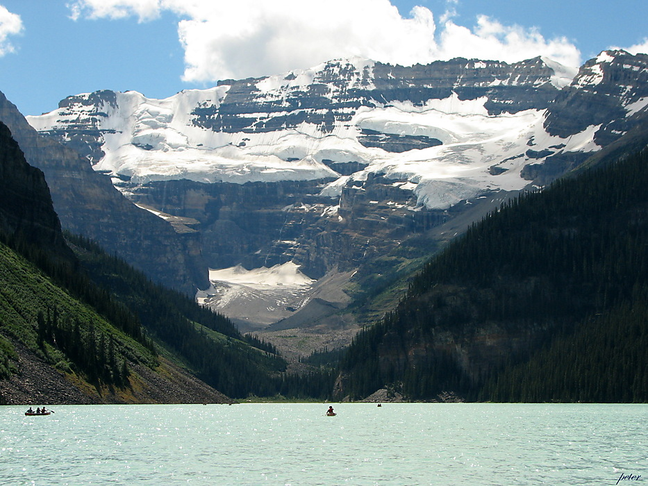 photoblog image Around The World - Mt. Victoria Above Lake Louise