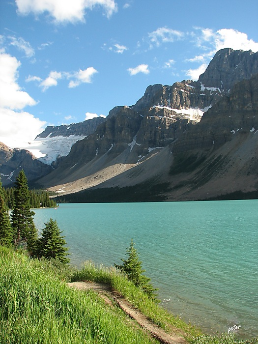 photoblog image Around The Wold - Castle Mountain - Bow River