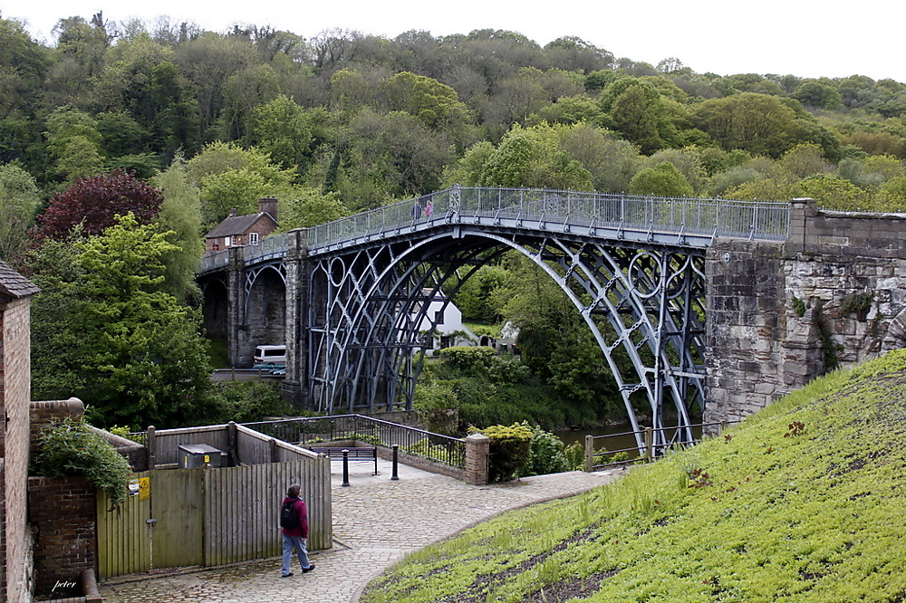 photoblog image Penny at the World's First Iron Bridge Built In 1779