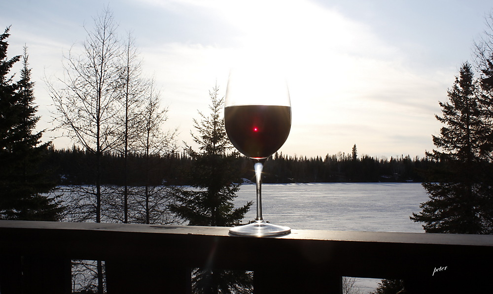 photoblog image A Glass of Red Wine Capturing the Sun