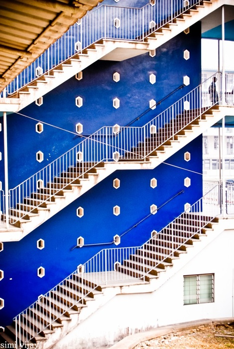 photoblog image blue walls