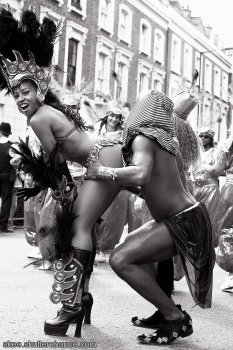 "photoblog image ""In your face"": A Black n white Carnival"