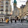 The financial district in Zurich