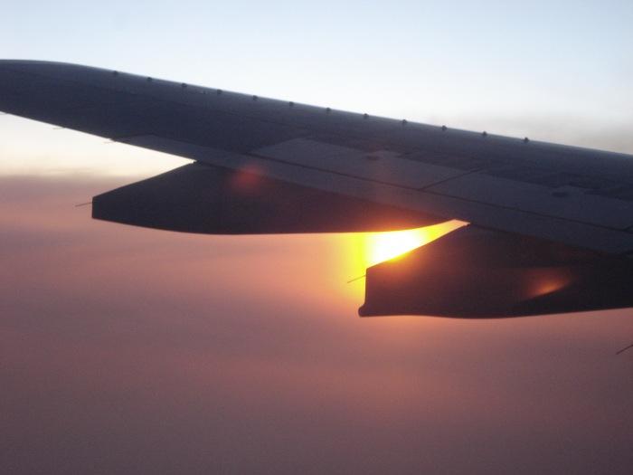 photoblog image Flight into the sunset.