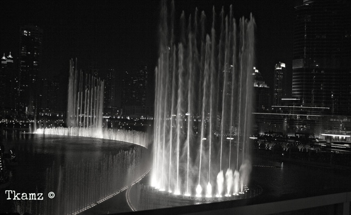 photoblog image The Dancing Fountain B&W