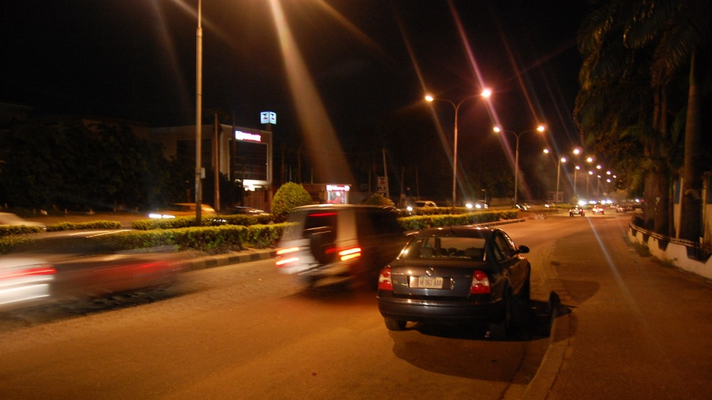 photoblog image Kingsway Road (now Alfred Rewane Road) at Night...